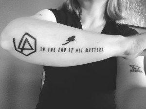 Writing Linkin Park Chester Bennington Tattoo In The End
